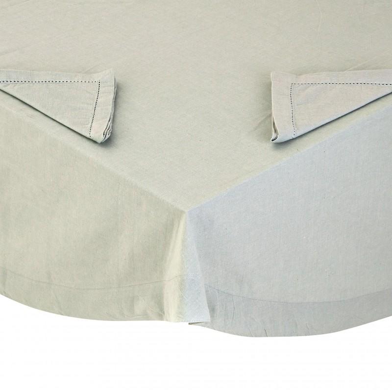 Mantel con servilletas borde perforado 100% algodón Haus