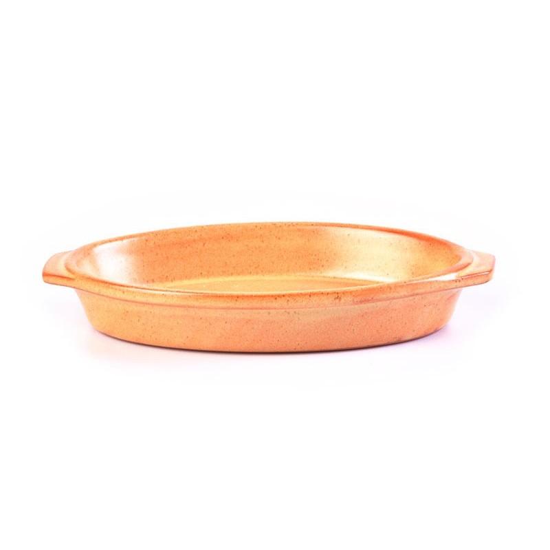 Fuente oval Tabacco De Silva Ceramiche
