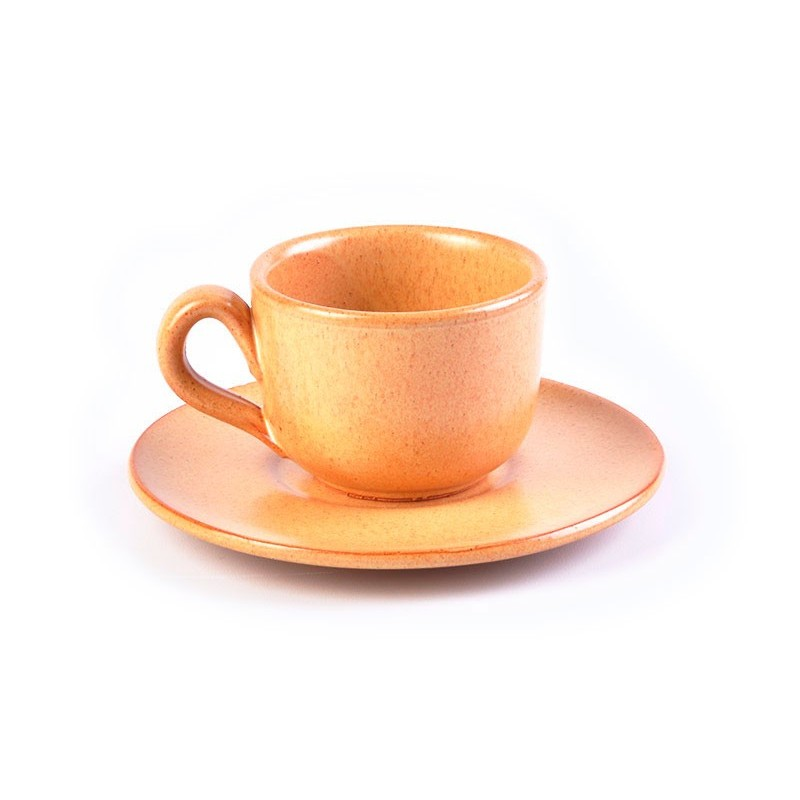 Juego de taza y plato para té Tabacco De Silva Ceramiche