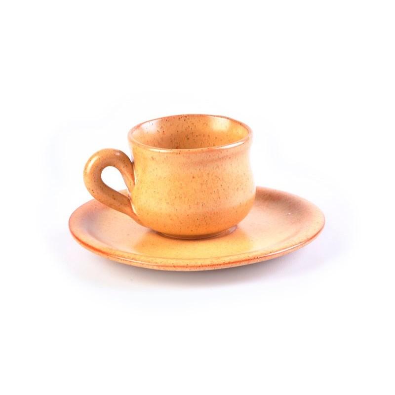 Juego de taza y plato para espresso Tabacco De Silva Ceramiche