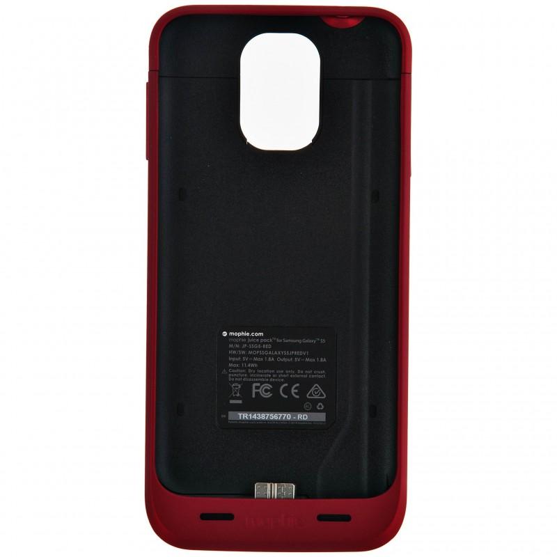 Estuche con batería recargable 3000 mAh para Galaxy S5 Mophie