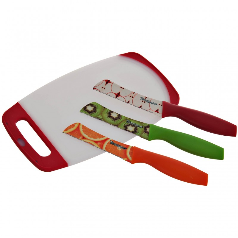 Juego de tablita para picar con 3 cuchillos Tomodachi Hampton Forge