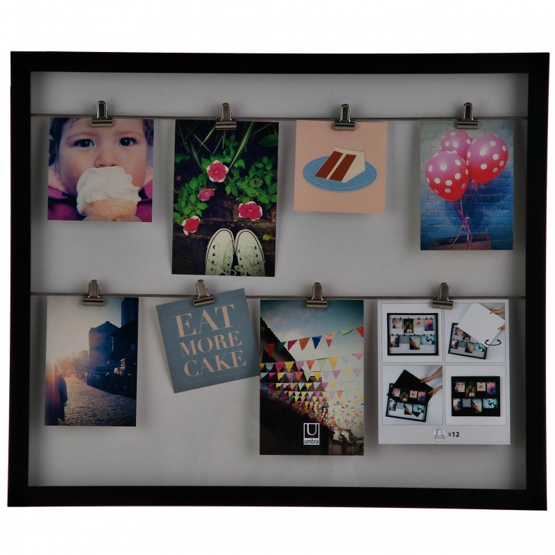 Portarretrato Clipline Photo Display negro Umbra