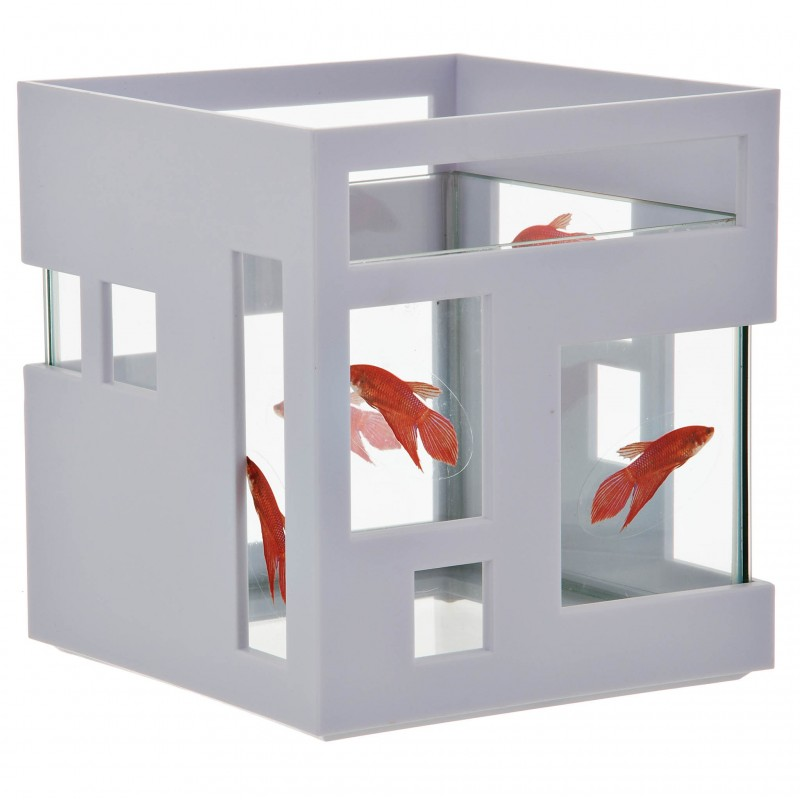 Pecera Fishhotel Fishbowl blanco Umbra