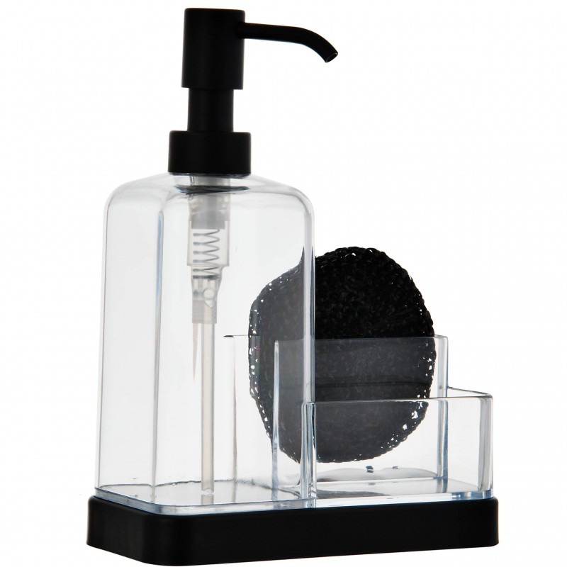 Dispensador de jabón con esponja Interdesign