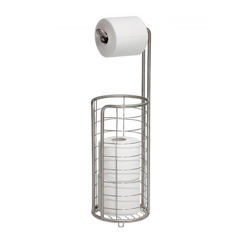 Porta papel higiénico de acero inoxidable Forma Interdesign
