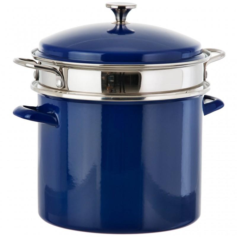Olla cacerola con tapa e inserto vapor inducción Cuisinart