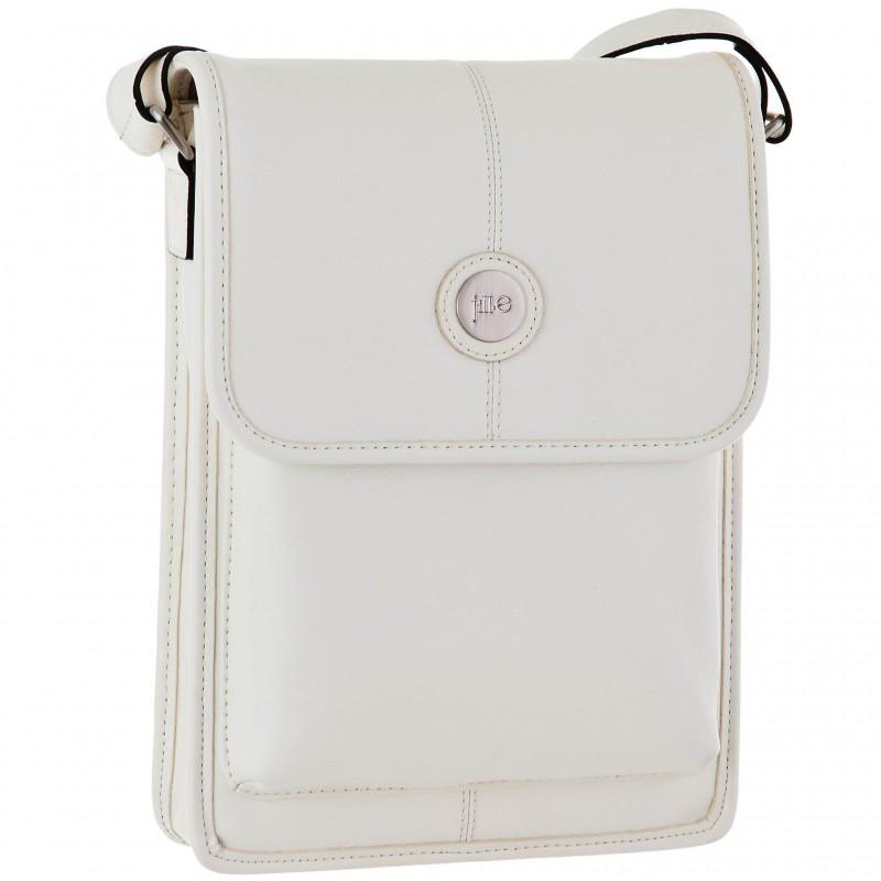 Bolso de cuero para tablet Metro blanco Jill.E