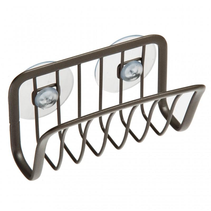 Porta esponja con ventosas Axis Satin Interdesign