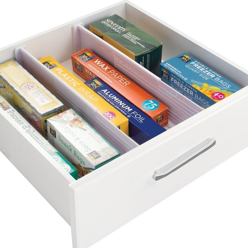 Organizador ajustable plástico para cajón Clost Interdesign