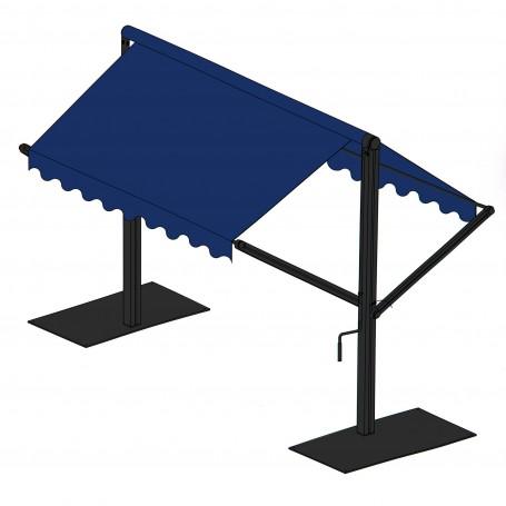 Toldo rectangular con base 3x3 m