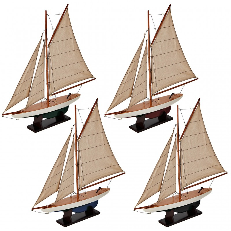 Juego de 4 barcos multicolor Authentic Models