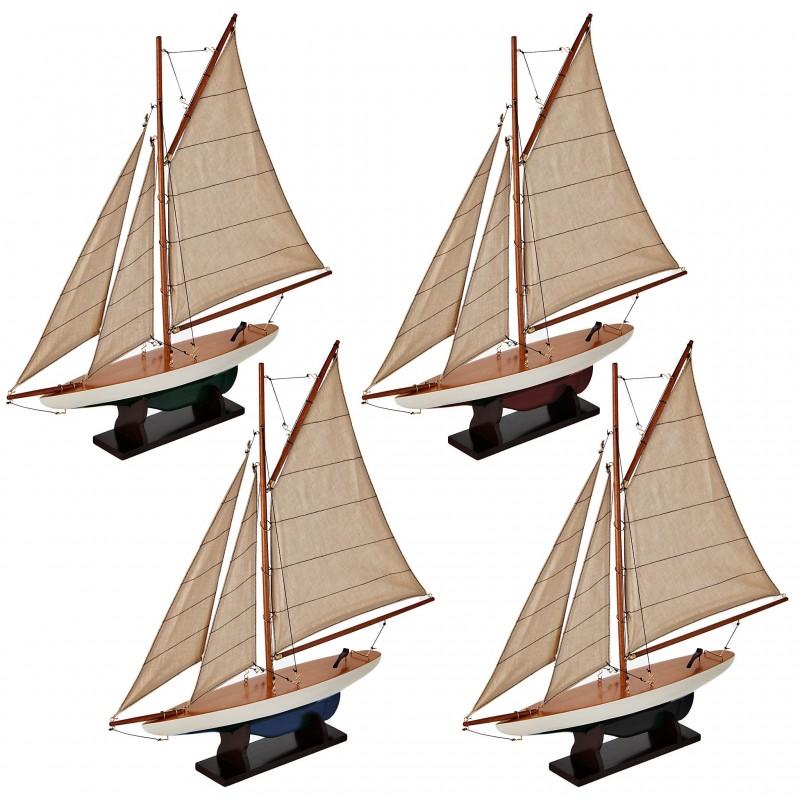 Juego de 4 barcos multicolor Authentic Models