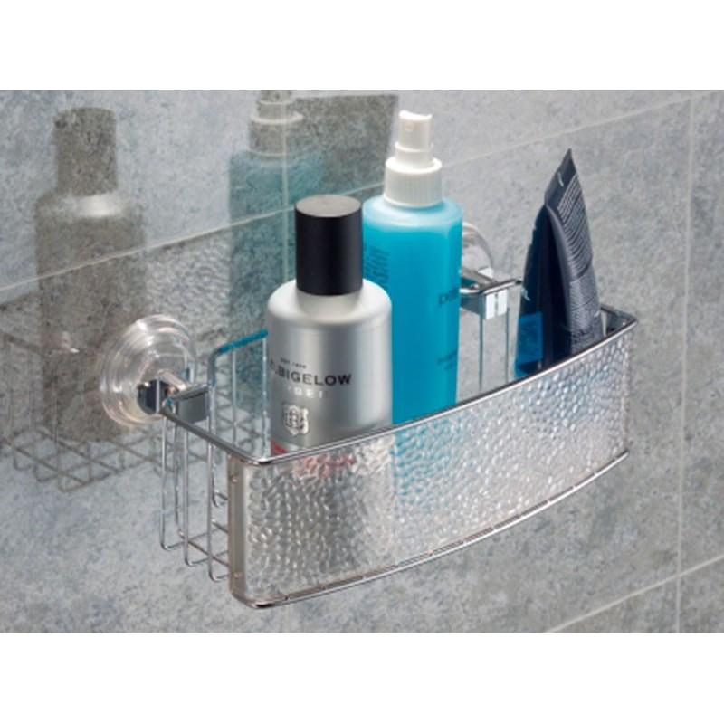 Organizador para ducha con succión Clear Rain Interdesign