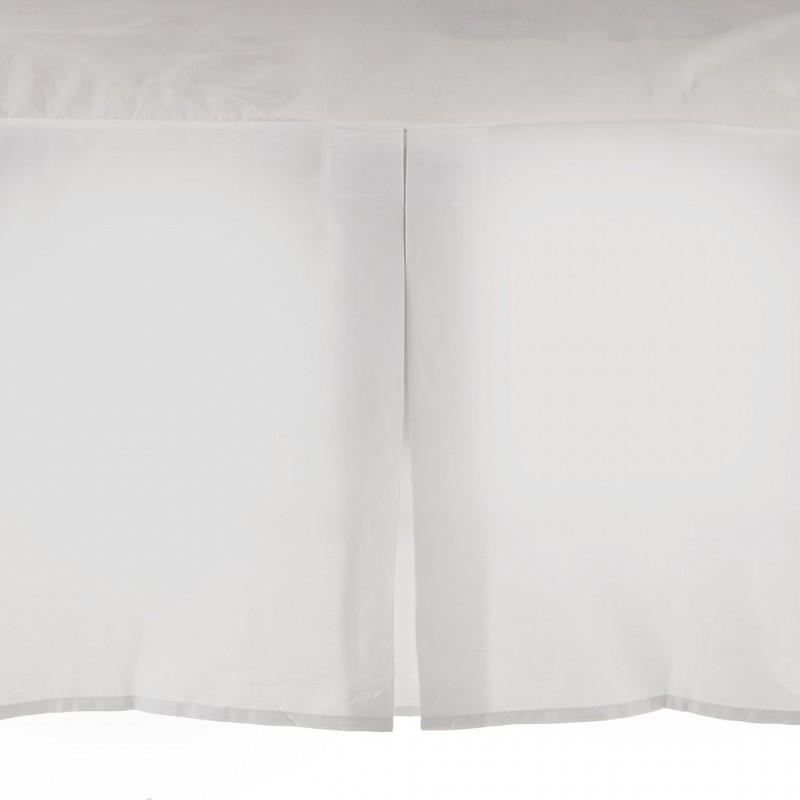 Faldón para cama 100% algodón blanco Haus