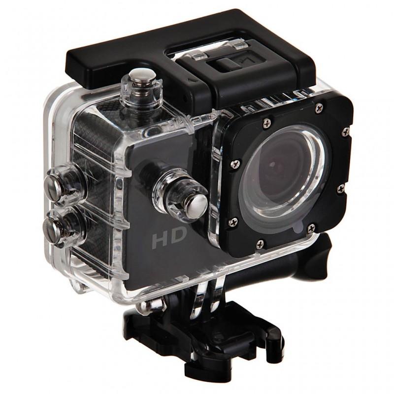 Cámara acción HD 12MP con 17 accesorios negro Brosfuture