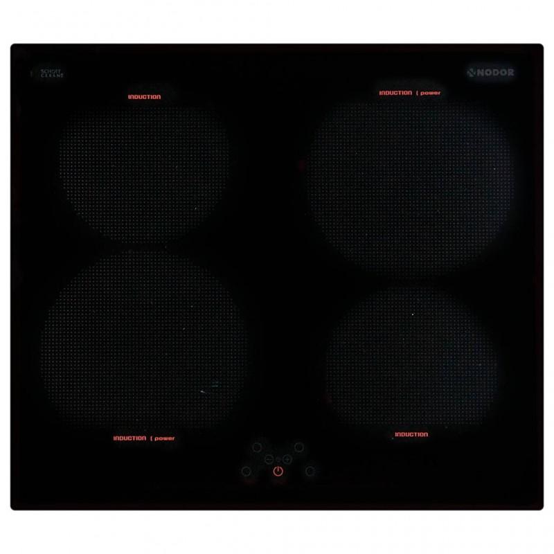 Plancha eléctrica inducción 6500W 4 zonas vitrocerámica Nodor