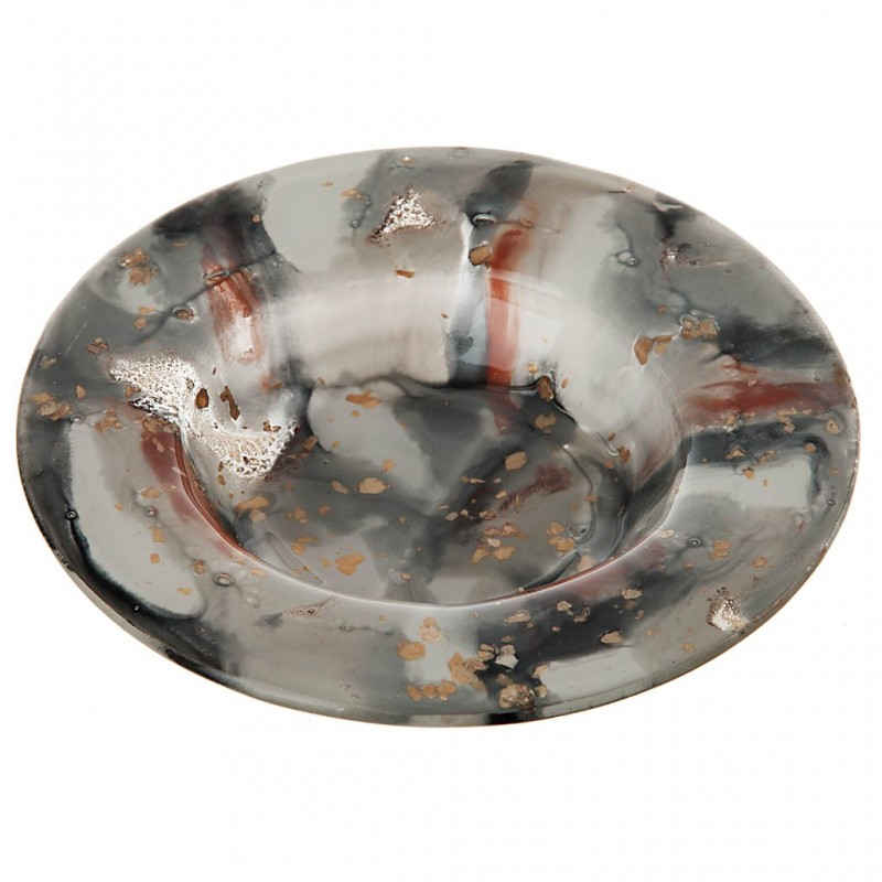 Porta vela redonda 12 cm Pan de Oro Bolek