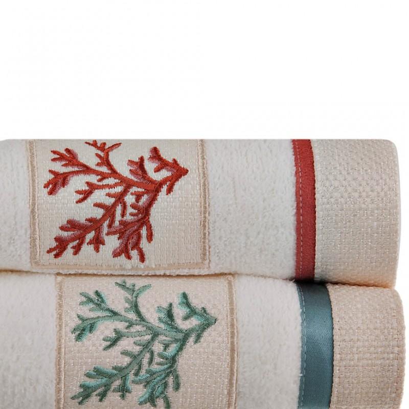 Toalla de baño Cayman White Coral 100% algodón Avanti