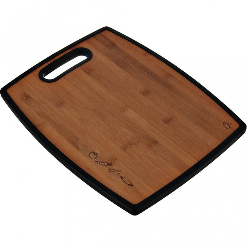 Tabla para pica doble lado 38x30.5 cm bambú/plástico Totally Bamboo