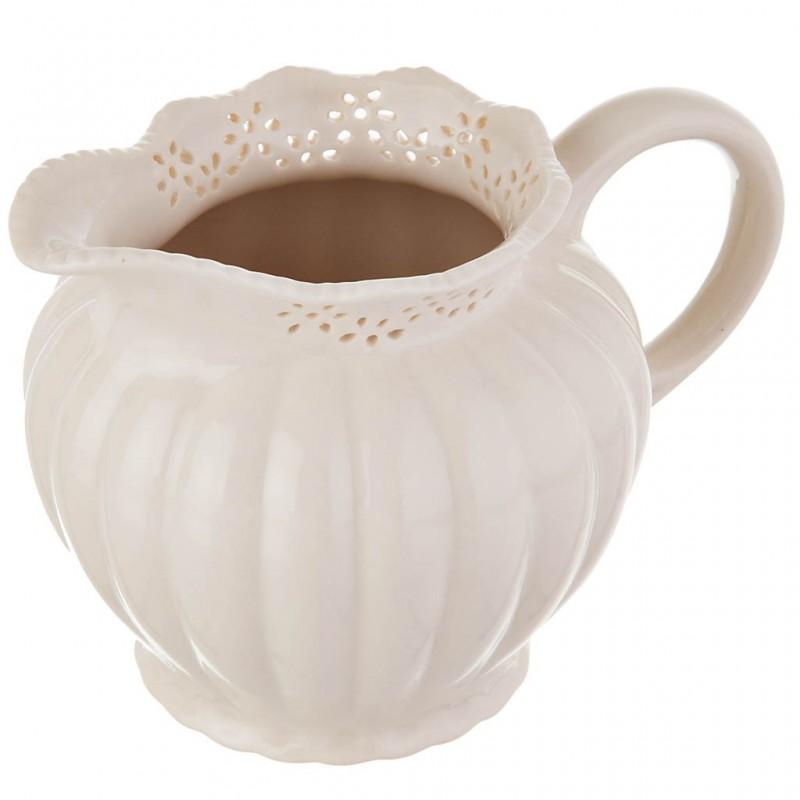 Cremera Borde Calado porcelana Haus