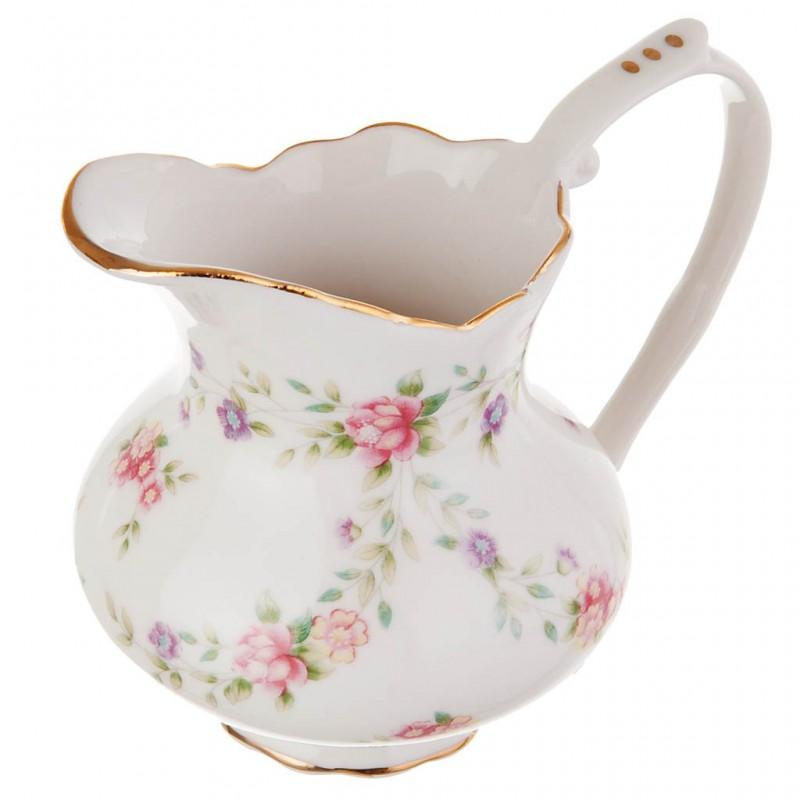Cremera Flores Pastel porcelana Haus