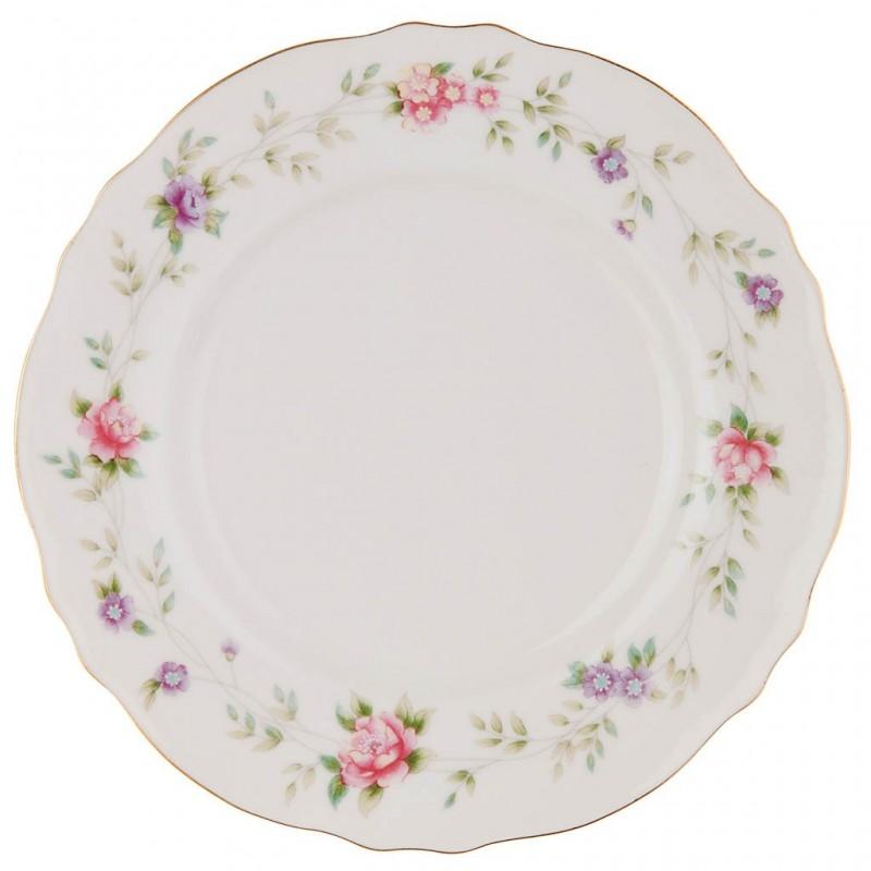 Plato para postre 20 cm Flores Pastel porcelana Haus