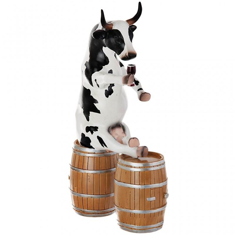 Figura de vaca Enjoying a Tipple Cow Parade