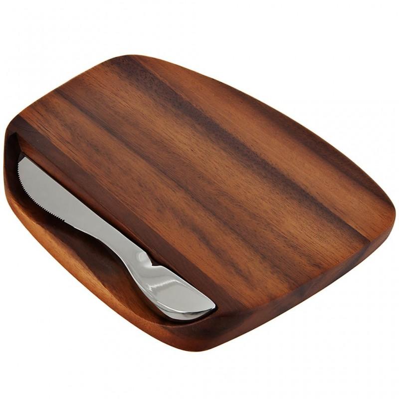 Tabla para queso con cuchillo Madera / Acero inoxidable Nambé