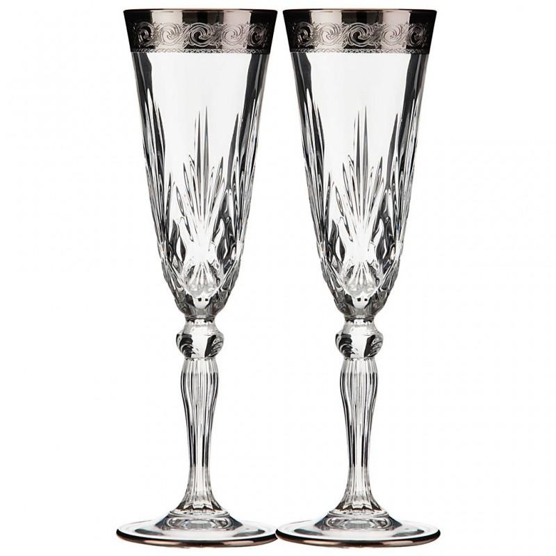 Juego de 2 copas para champagne Paint Cre Art