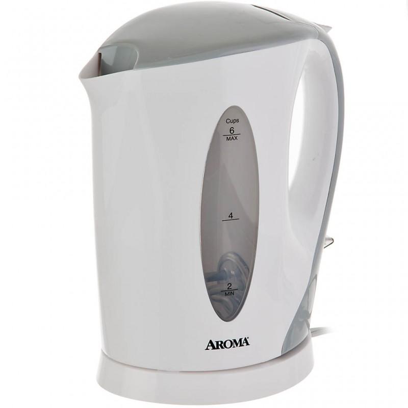 Hervidor eléctrico 1.5 L / 6 tazas 1500W Apagado Automático blanco Aroma