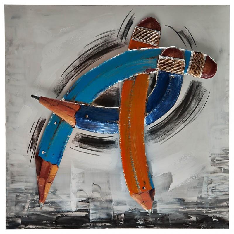 Cuadro Lápices 80x80 cm