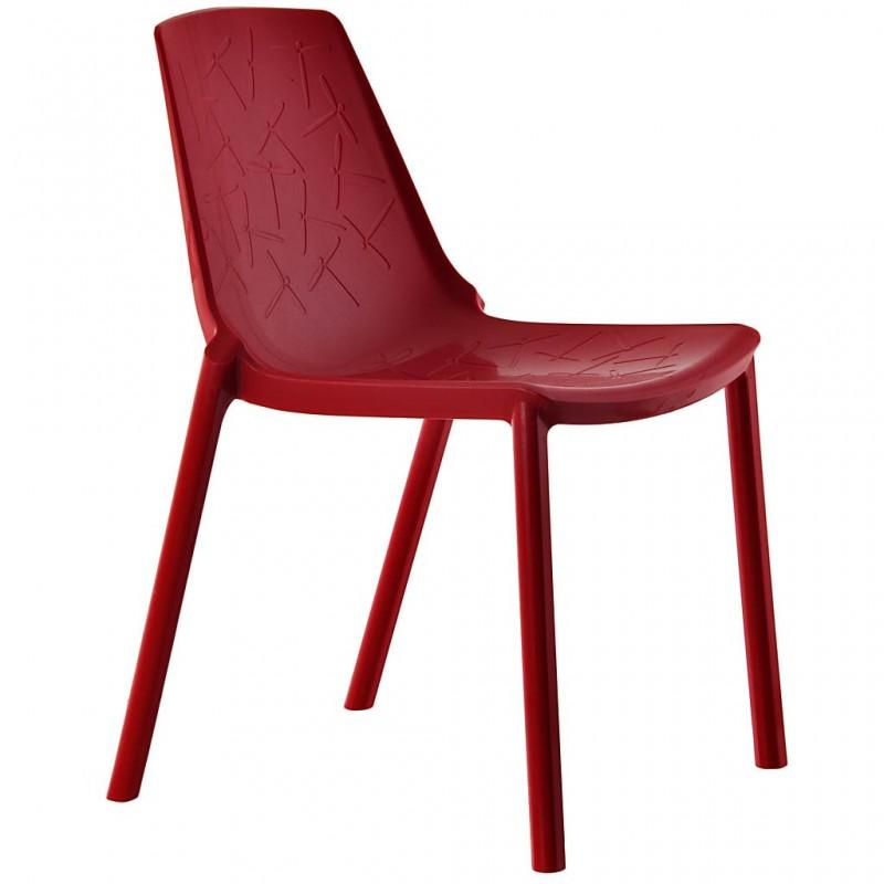 Silla roja plástico