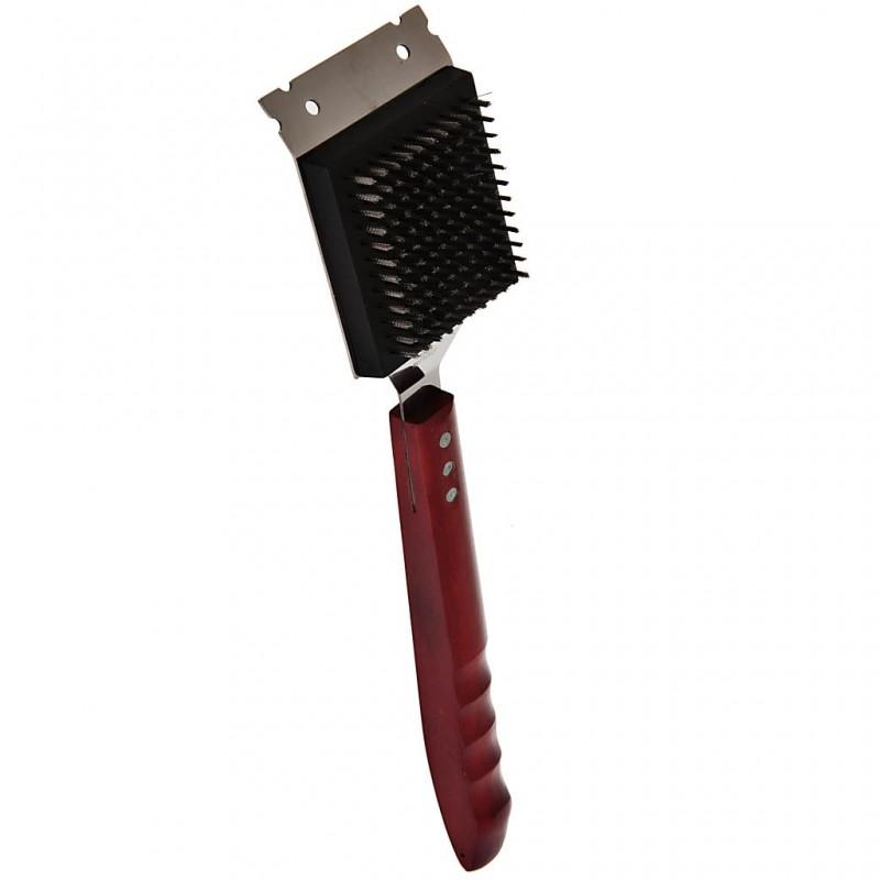 Cepillo para limpiar BBQ con mango de madera Tablecraft