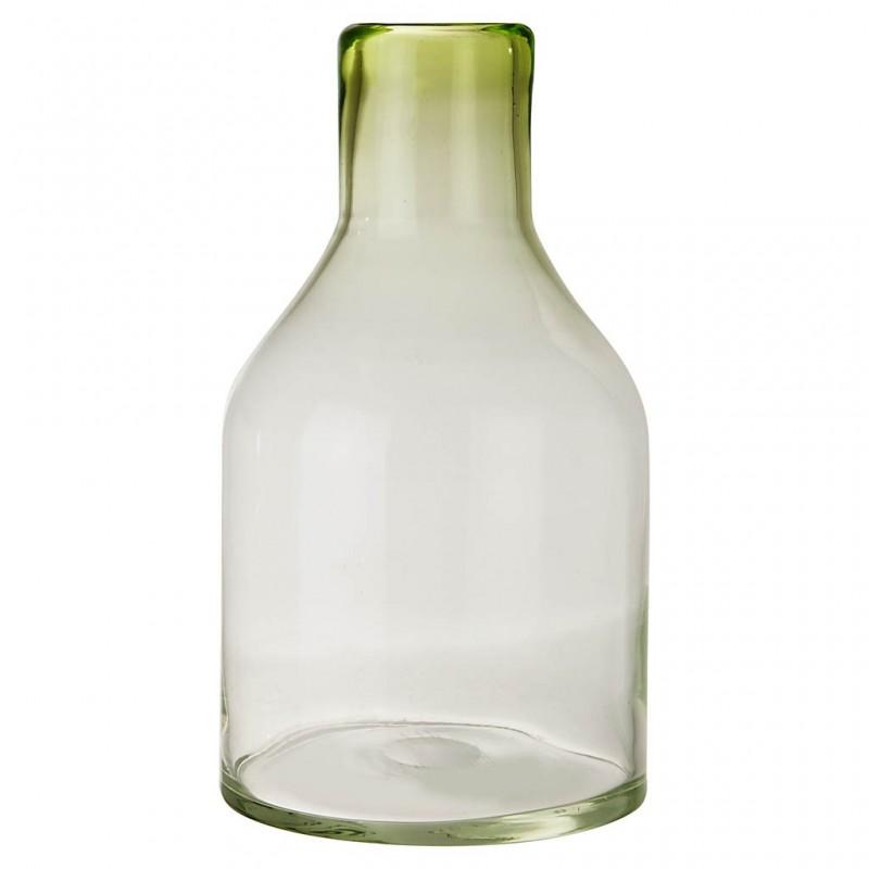 Florero botellón grande de vidrio Haus