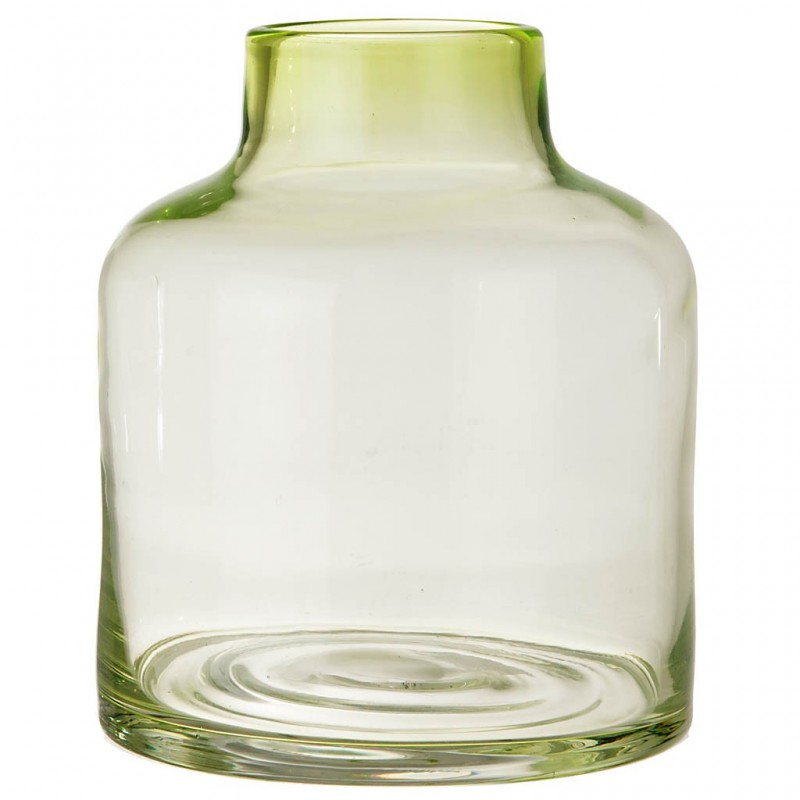 Florero botellón mediano de vidrio Haus