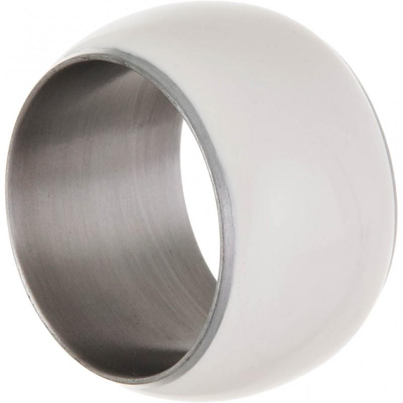 Aro para servilleta blanco / silver Haus