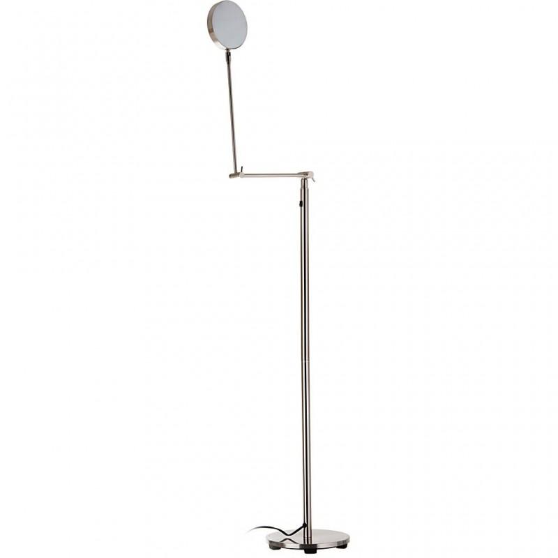Lámpara de piso redonda con luz LED