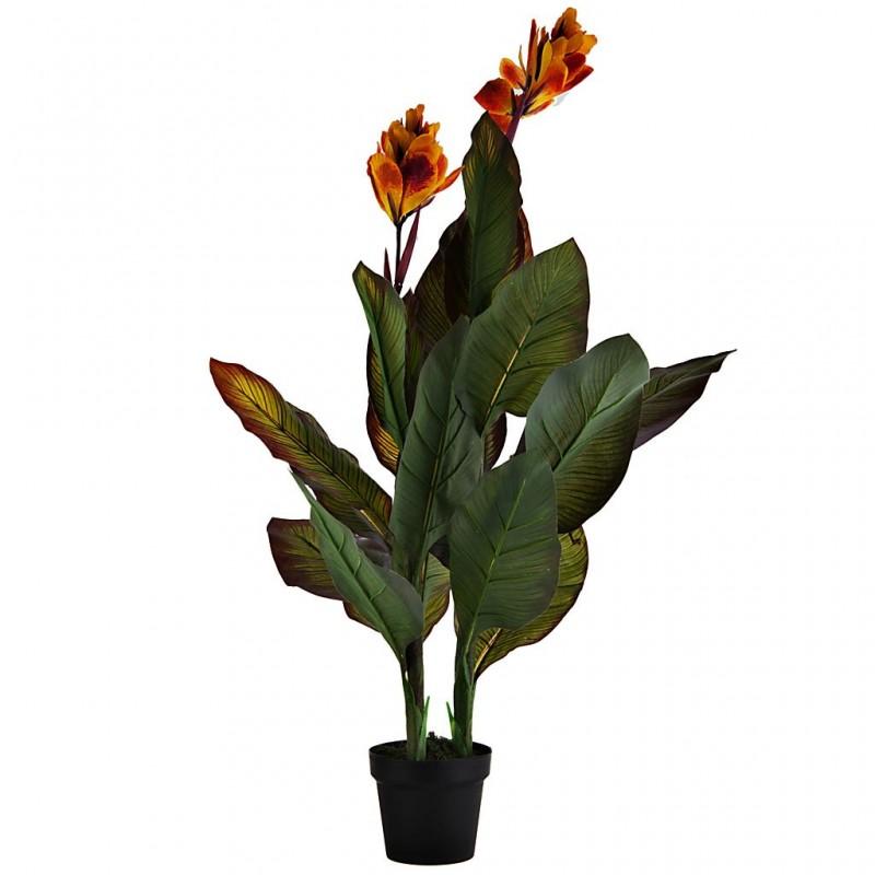Planta artificial Canna Lily Amarilla