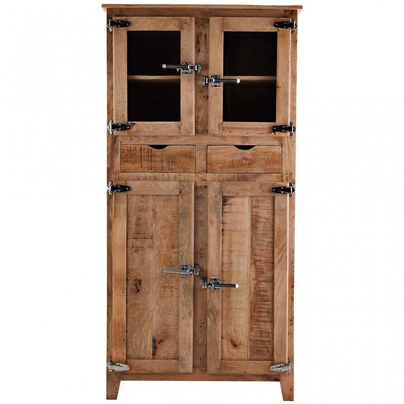Mueble vitrina 4 puertas / 2 cajones