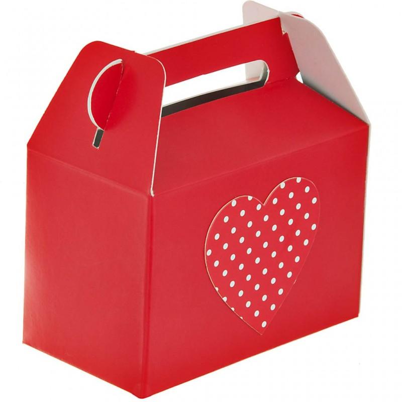 Caja pequeña para regalo Rojo Corazón