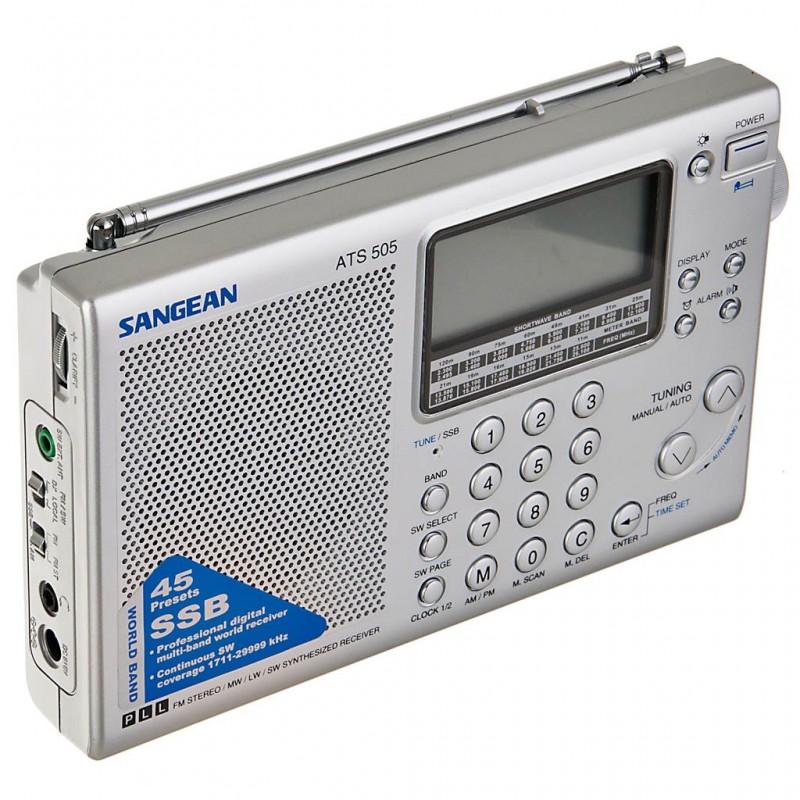 Radio digital onda corta / reloj alarma Sangean