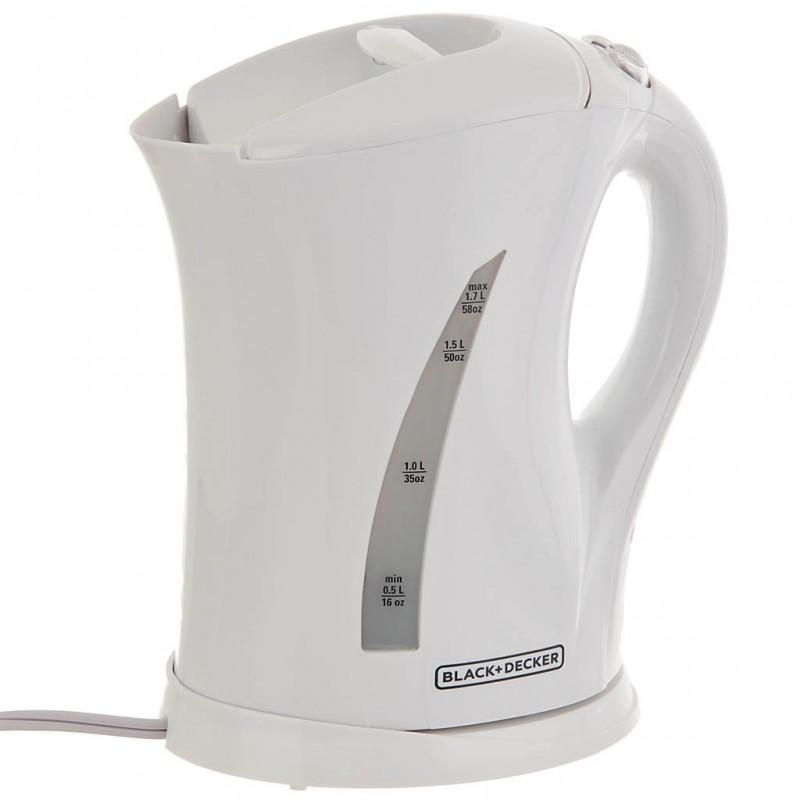 Hervidor eléctrico inalámbrico 1.7 L 1500 W blanco Black & Decker