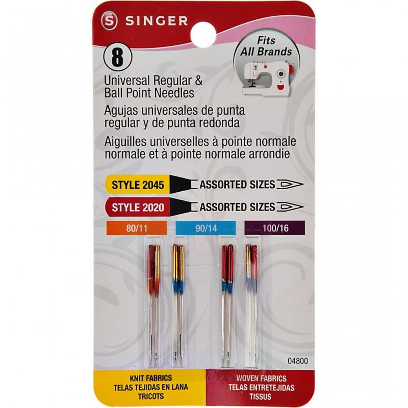 Juego de 8 agujas universales para máquina de coser Singer