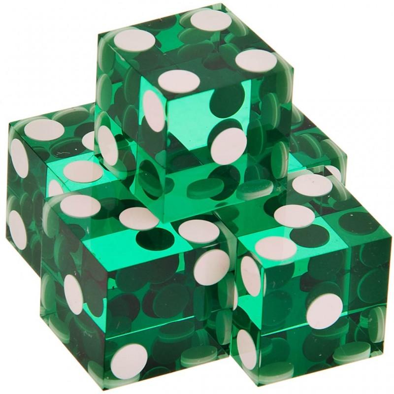 Juego de 5 dados con bolas blancas Kem