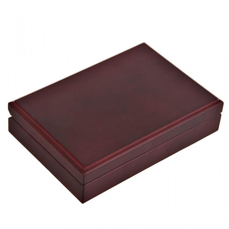 Caja de madera para naipes 2 divisiones Mahogany Kem