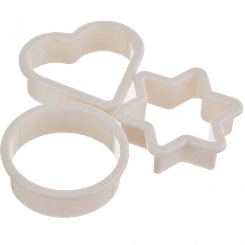 Juego de 3 cortadores para galletas plástico
