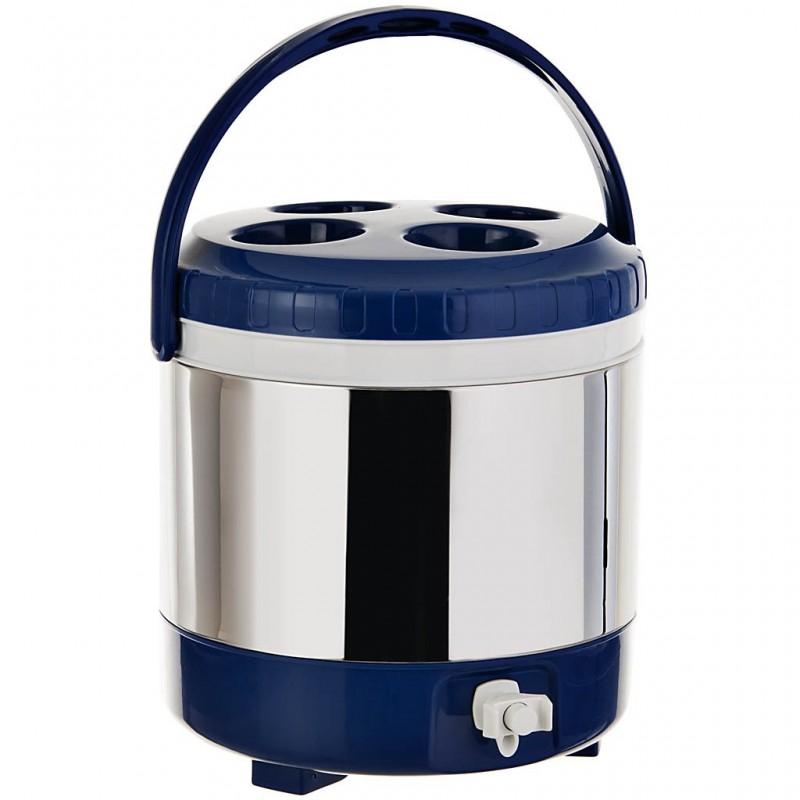 Dispensador para agua 10 L 100% plástico metalizado