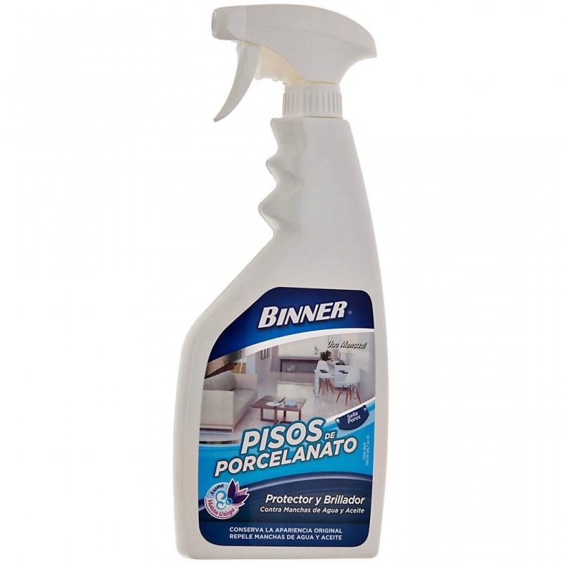 Protector / Brillador contra manchas de agua y aceite para pisos de porcelanato 700 ml Binner