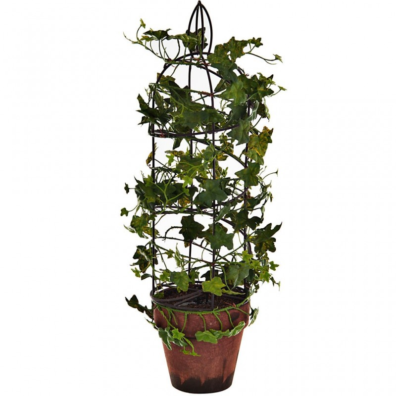 Planta enredadera maceta jaula plástico / papel / hierro